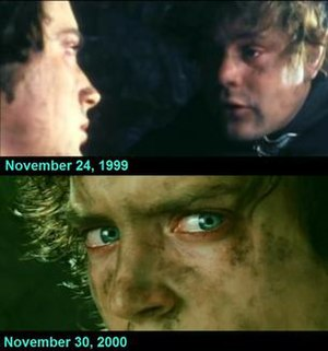 Principal photography of The Lord of the Rings film series - Image: LOT Rfilming