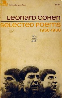 Leonard Cohen Selected Poems 1956-1968 front (Viking, US).jpg