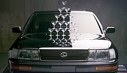 In 1989, Lexus showcased the smoothness of its V8 engines by placing champagne glasses on the hood of an accelerating LS 400.