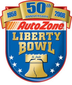 2009 Liberty Bowl - Liberty Bowl 50th Anniversary logo.