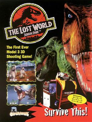 The Lost World: Jurassic Park (arcade game) - Arcade flyer