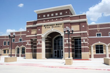 McKinney Boyd High School MBHS Entrance.jpg
