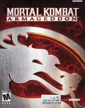 Mortal Kombat: Armageddon - North American PlayStation 2 cover art.