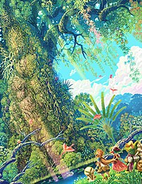 Artwork of the Mana Tree, from Children of Mana