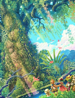 Mana (series) - Artwork of the Mana Tree, from Children of Mana