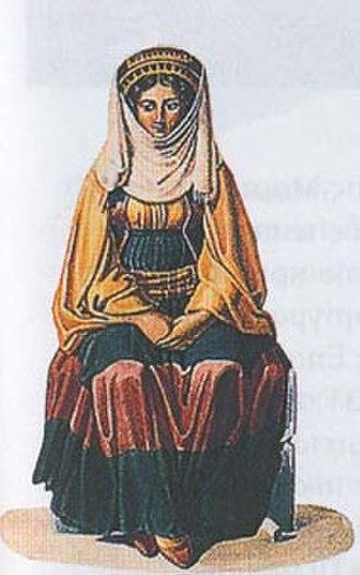 Ottoman–Egyptian invasion of Mani - Maniot woman.
