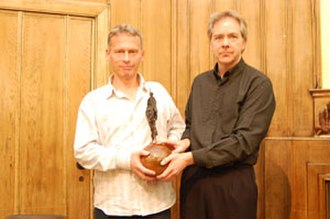 Media Lens - David Edwards and David Cromwell of Media Lens receive the Gandhi Foundation Peace Award, 2 December 2007