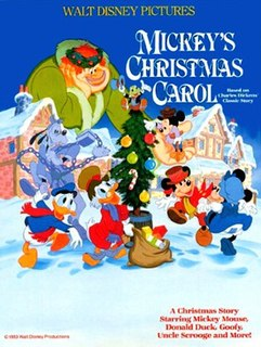 <i>Mickeys Christmas Carol</i> 1983 Mickey Mouse animated featurette directed by Burny Mattinson
