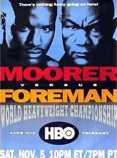 Michael Moorer vs. George Foreman 1994 professional boxing match