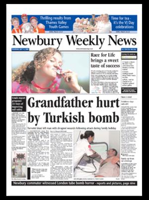 Newbury Weekly News - Image: NWN frontpage