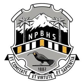 New Plymouth Boys' High School - Image: New Plymouth Boys' High School