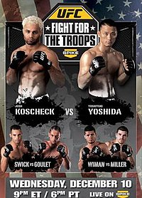 A poster or logo for UFC: Fight for the Troops.