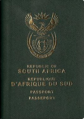 South African passport - Front Cover of a Current Issue South African Passport.