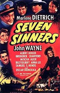 <i>Seven Sinners</i> (1940 film) 1940 film