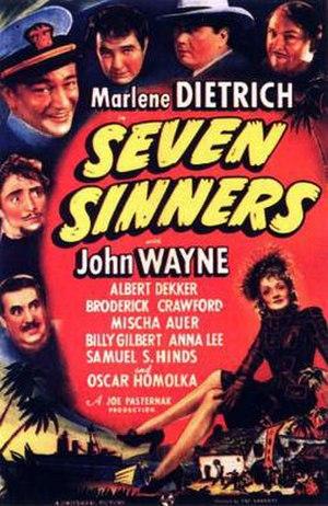 Seven Sinners (1940 film) - Film poster