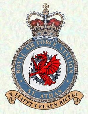MOD St Athan - RAF St Athan station badge