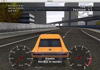 Redline (video game) - Screenshot of Redline's gameplay