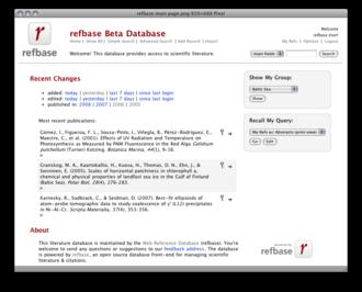 Refbase - Image: Refbase