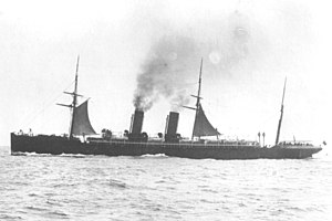 RMS Etruria - Etruria under sail