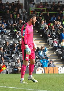 Sam Russell playing for Forest Green Rovers vs Barrow in October 2016.jpg