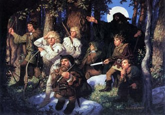Brothers Hildebrandt - Depiction of the quest party for the novel The Sword of Shannara