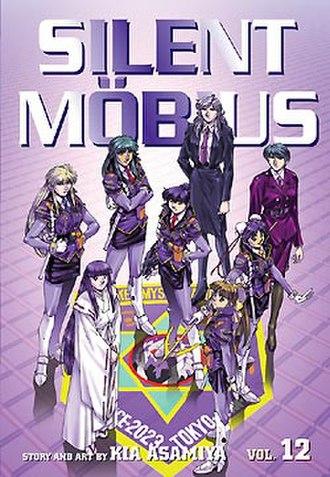 Silent Möbius - Volume 12 of the VIZ Media release, portraying the entire AMP.