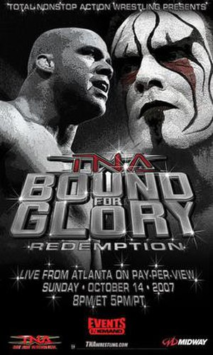 Bound for Glory (2007) - Promotional poster featuring Kurt Angle and Sting