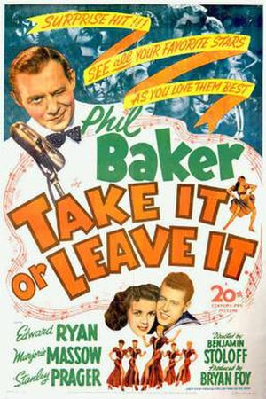 Take It or Leave It (1944 film) - Theatrical release poster