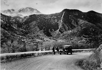 Manitou Incline - Incline in its early days