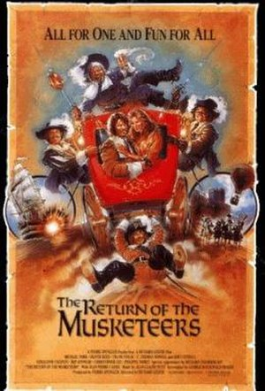 The Return of the Musketeers - Theatrical release poster by Steven Chorney