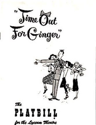 Time Out For Ginger - Original Playbill for Time Out For Ginger