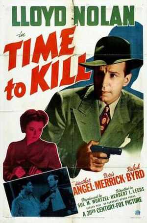 Michael Shayne - Poster for Time to Kill starring Lloyd Nolan as Michael Shayne.