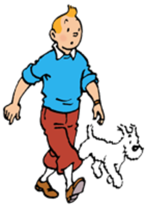 The Adventures of Tintin (TV series) - (L-R) Tintin and Snowy
