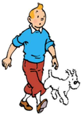 Tintin (character) - Tintin and his dog Snowy, by Hergé