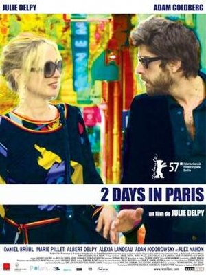2 Days in Paris - Theatrical release poster