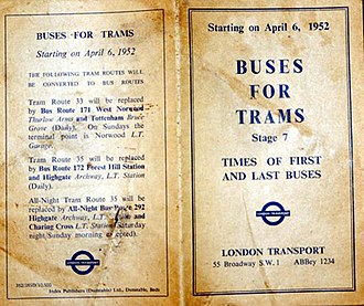 Kingsway tramway subway - Changes leaflet