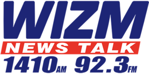 WIZM (AM) - Image: WIZM News Talk 1410 92.3 logo