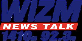 WIZM (AM) - Image: WIZM News Talk 1410 92.3 logo