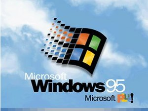 Microsoft Plus! - Windows 95 with Microsoft Plus boot screen