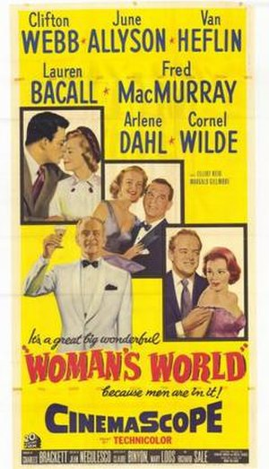 Woman's World (1954 film) - Theatrical release poster