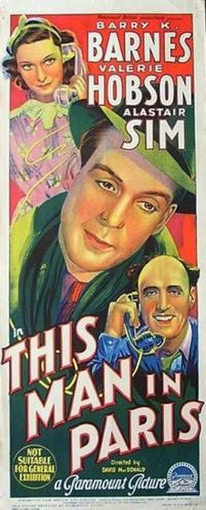 This Man in Paris - Australian theatrical poster