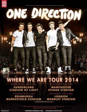 Where We Are Tour (One Direction) - UK Promotional poster