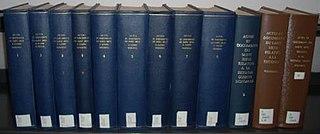 <i>Actes et documents du Saint Siège relatifs à la Seconde Guerre Mondiale</i> eleven-volume collection of documents from the Vatican historical archives