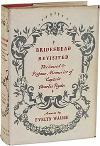 Jacket of the first UK edition of Brideshead Revisited