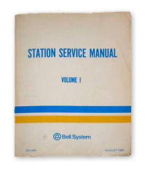 Bell System Practices - A typical volume of Bell System Practices from the 1970s.