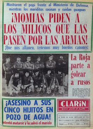 Clarín (Chilean newspaper) - Image: Clarín, 11 September 1973