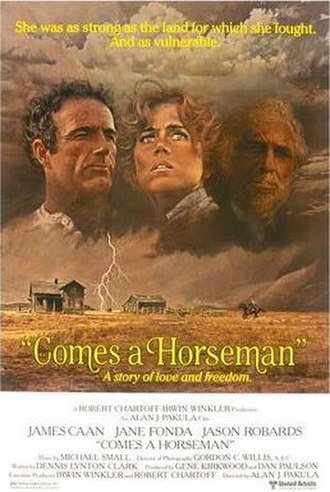 Comes a Horseman - film poster by Robert McGinnis