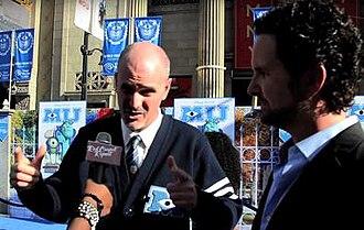 Dan Gerson - Gerson (left) with Robert Baird at Monsters University premiere in June 2013