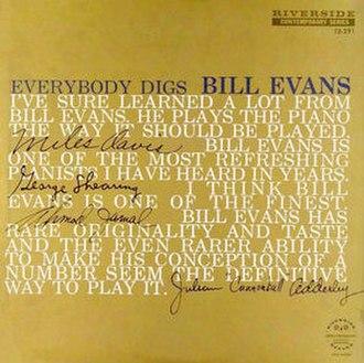 Everybody Digs Bill Evans - Image: Everybody Digs Bill Evans