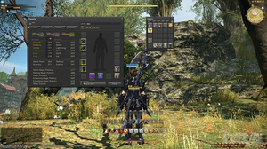 Final Fantasy XIV: A Realm Reborn - A Realm Reborn's PC interface, navigated by a point and click widget system